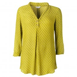 Nomads Citrus Rice Print Collar Tunic