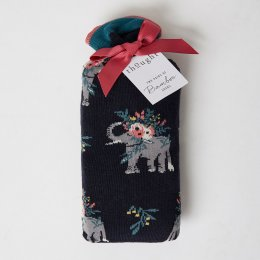 Thought Pretty Elephant Bamboo Socks in a Bag - UK4-7