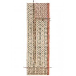 Blockprint Tribal Indian Rug with Embroidery - 75 x 240cm