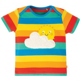 Frugi Rainbow Sun Bobster Applique Top