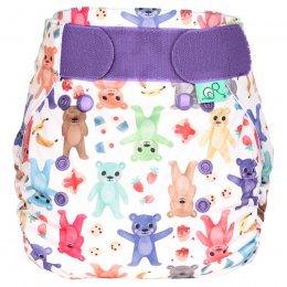 Tots Bots Bearbum Peenut Wrap Reusable Nappy - Size 2