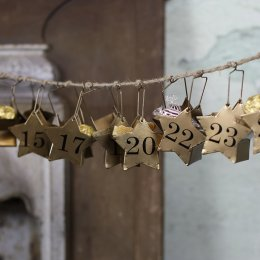 Abeni Antique Brass Star Calender