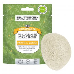 Beauty Kitchen Abyssinian Oil Facial Cleansing Konjac Sponge