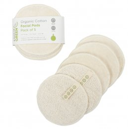 A Slice of Green Organic Cotton Reusable Facial Pads - Pack of 5