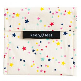 Keep Leaf Reusable Large Food Baggie - Stars