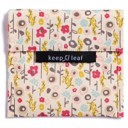 Keep Leaf Reusable Large Food Baggie - Bloom