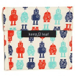 Keep Leaf Reusable Large Food Baggie - Robot