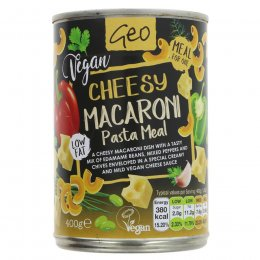 Geo Vegan Cheesy Macaroni Pasta Meal - 400g