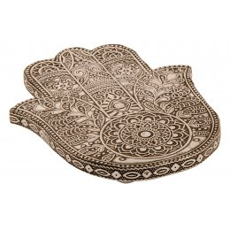 Hamsa Hand Embossed Incense Holder