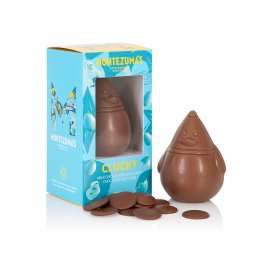 Montezumas Small Clucky Milk Chocolate Chick with Buttons - 100g