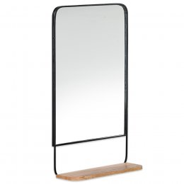 Harni Antique Black & Mango Wood Mirror