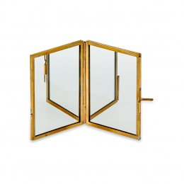 Kiko Antique Brass Folding Mirror - Small
