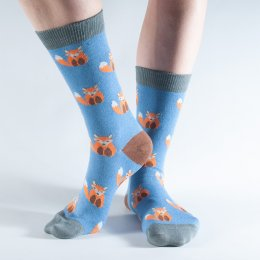 Doris & Dude Blue Fox Bamboo Socks - UK3-7