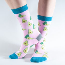 Doris & Dude Pink Avocado Bamboo Socks - UK3-7