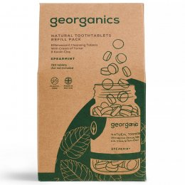 Georganics Mouthwash Tablets - Spearmint - 720 Refill