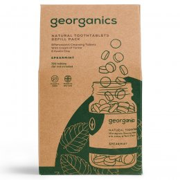Georganics Toothpaste Tablets - Spearmint - 720 Refill