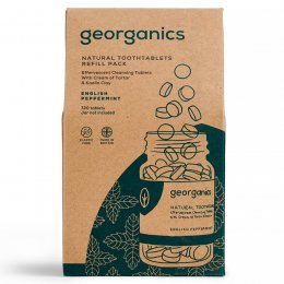 Georganics Toothpaste Tablets - Peppermint - 720 Refill