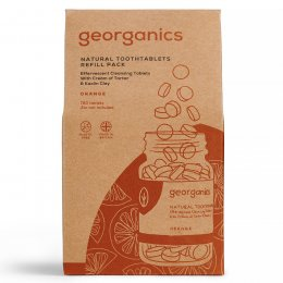 Georganics Toothpaste Tablets - Orange - 720 Refill