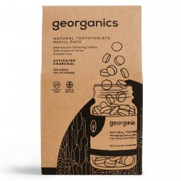 Georganics Toothpaste Tablets - Activated Charcoal - 720 Refill
