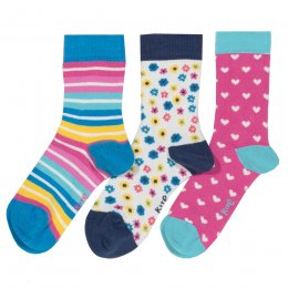Kite Flower Socks - 3 Pairs
