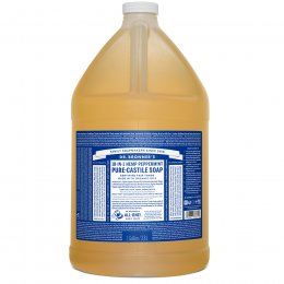 Dr Bronner Peppermint Castile Liquid Soap - 3.8L