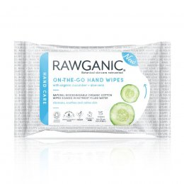 Rawganic On-the-Go Hand Wipes - Pack of 15