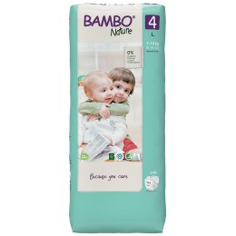 Bambo Nature Disposable Nappies - Maxi -Size 4 - Economy Pack of 48