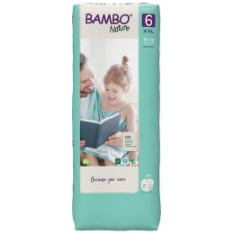 Bambo Nature Disposable Nappies - XL Plus - Size 6 - Economy Pack of 40