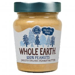 Whole Earth 100 percent Peanuts Organic Smooth Peanut Butter - 227g