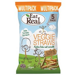 Eat Real Kiddies Veggie Straws Multipack - 5 pack