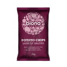 Biona Organic Lightly Salted Potato Chips - 100g