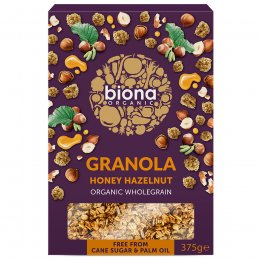 Biona Organic Honey Hazelnut Granola - 375g