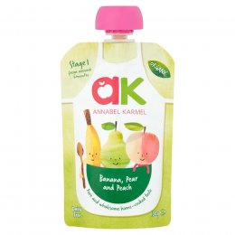 Annabel Karmel Organic Banana, Pear & Peach Puree - 100g