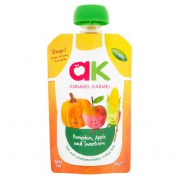 Annabel Karmel Organic Pumpkin, Apple & Sweetcorn Puree - 100g