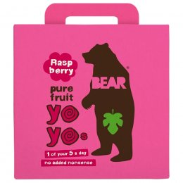 Bear Raspberry Yoyo Pure Fruit Rolls Multipack - 5 x 20g