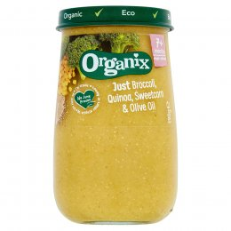 Organix Broccoli, Sweetcorn & Quinoa Baby Food Jar - 190g