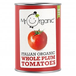 Mr Organic Whole Peeled Plum Tomatoes - 400g