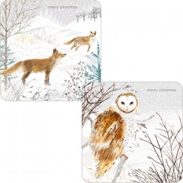 RSPB Snowy Scene Christmas Cards - Twin Pack of 10