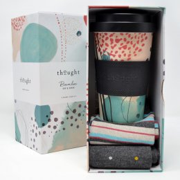 Thought Arrah Bamboo Cup & Socks Gift Set