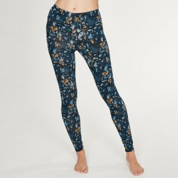 Thought Atkins Printed Leggings - Majolica Blue
