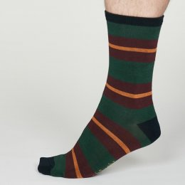 Thought Forest Green Jacob Bamboo Socks - UK7-11