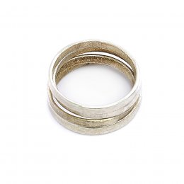 People Tree Handmade Stackable Rings - Silver