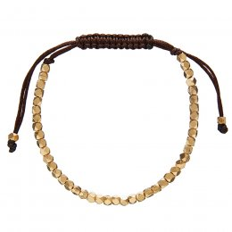 Kashka London Selene Lù Star Brown & Gold Bracelet