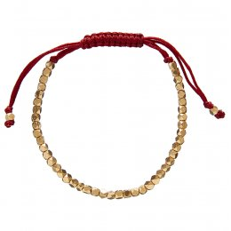 Kashka London Selene Lù Star Burgundy & Gold Bracelet