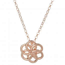 Kashka London Faith Sterling Silver with Rose Gold Vermeil Necklace