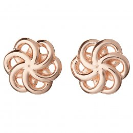 Kashka London Faith Sterling Silver with Rose Gold Vermeil Earrings