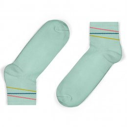Unisock Kids Mint Multi-Coloured Diagonal Stripes Ankle Socks