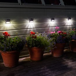 Solar Powered Fence, Wall & Post 3L Lights - Pack of 4
