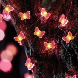 Solar Powered Butterfly Firefly String Lights - 30