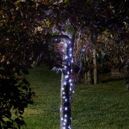 Solar Powered Cool White Firefly String Lights -100 LED